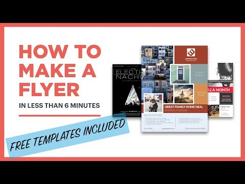 How To Create A Flyer (free Template Included)