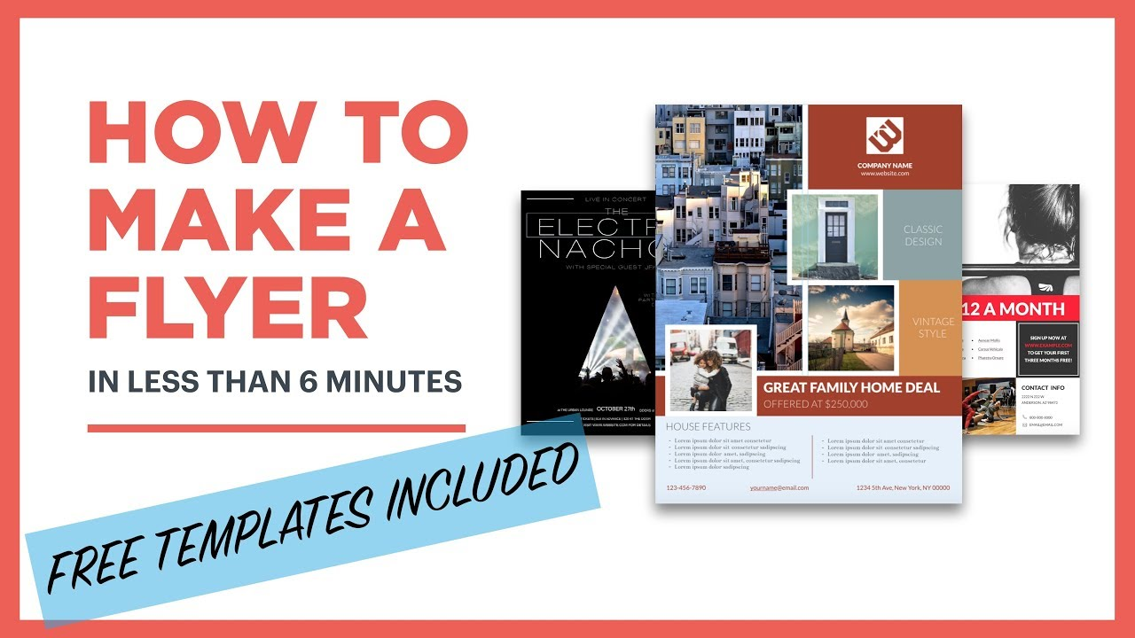 how to create a flyer  free template included