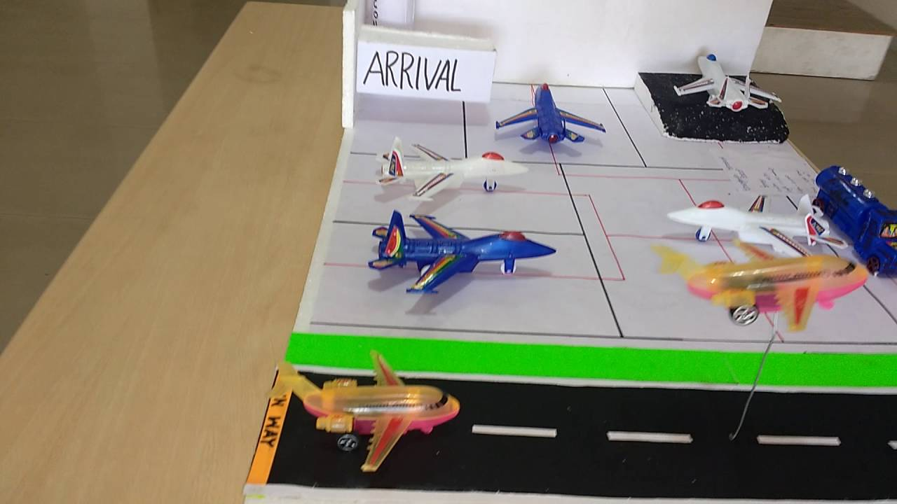 Airport Model! Made with Thermocol!!