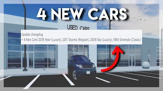 4 NEW CARS | Greenville Roblox
