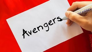 Avengers ! HOW TO TURN WORDS (AVENGERS) INTO CARTOON FOR KIDS