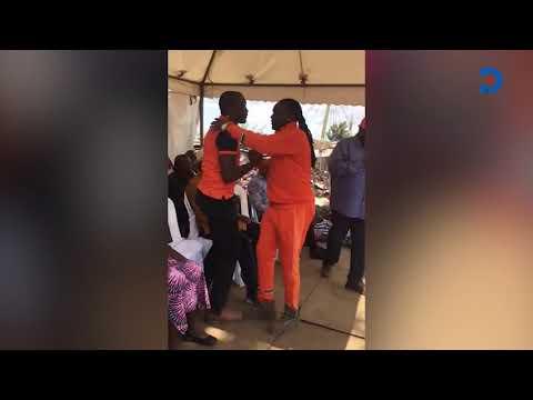 DJ Kriss Darlin kneels before Raila, begs for ODM ticket in Kibra by election race