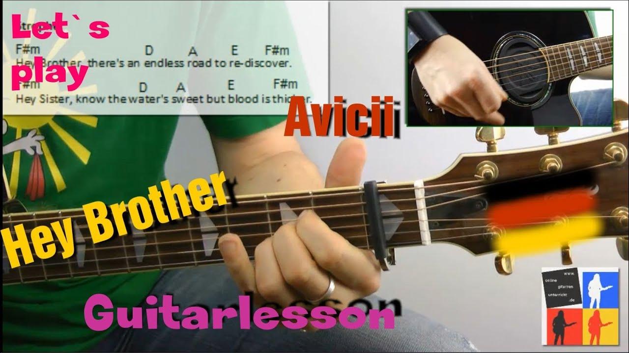 Hey brother guitarlesson avicii german noten tabs gitarre lernen online