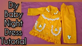 baby night dress tutorial