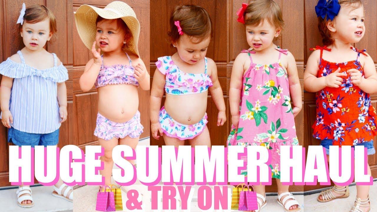 c2bec12c90e HUGE Toddler Girl Summer Haul   Try On