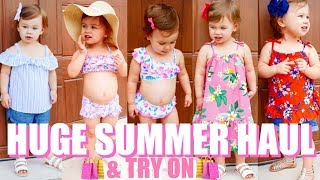 HUGE Toddler Girl Summer Haul & Try On | Summer Outfits 2018 For Kids