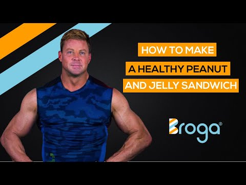 How To Make A Healthy Peanut Butter and Jelly Sandwich (PB&J)