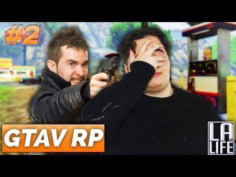 GTAV RP #2 - JE ME FAIS BRAQUER PAR 3 CRIMINELS !