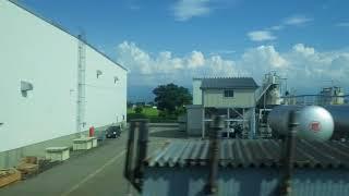 滑川~水橋駅、あいの風とやま鉄道(旧北陸本線)、進行方向左側車窓から