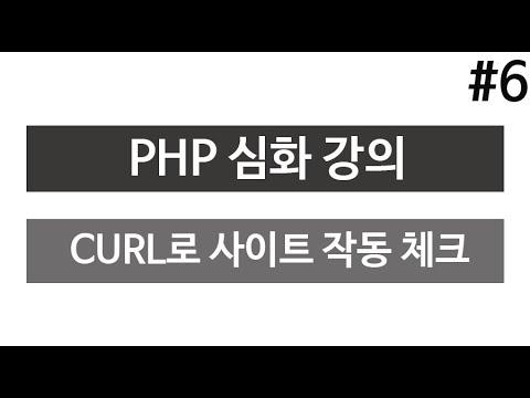 PHP 고급 강좌6 (curl로 사이트 작동 여부 주기적 체크)