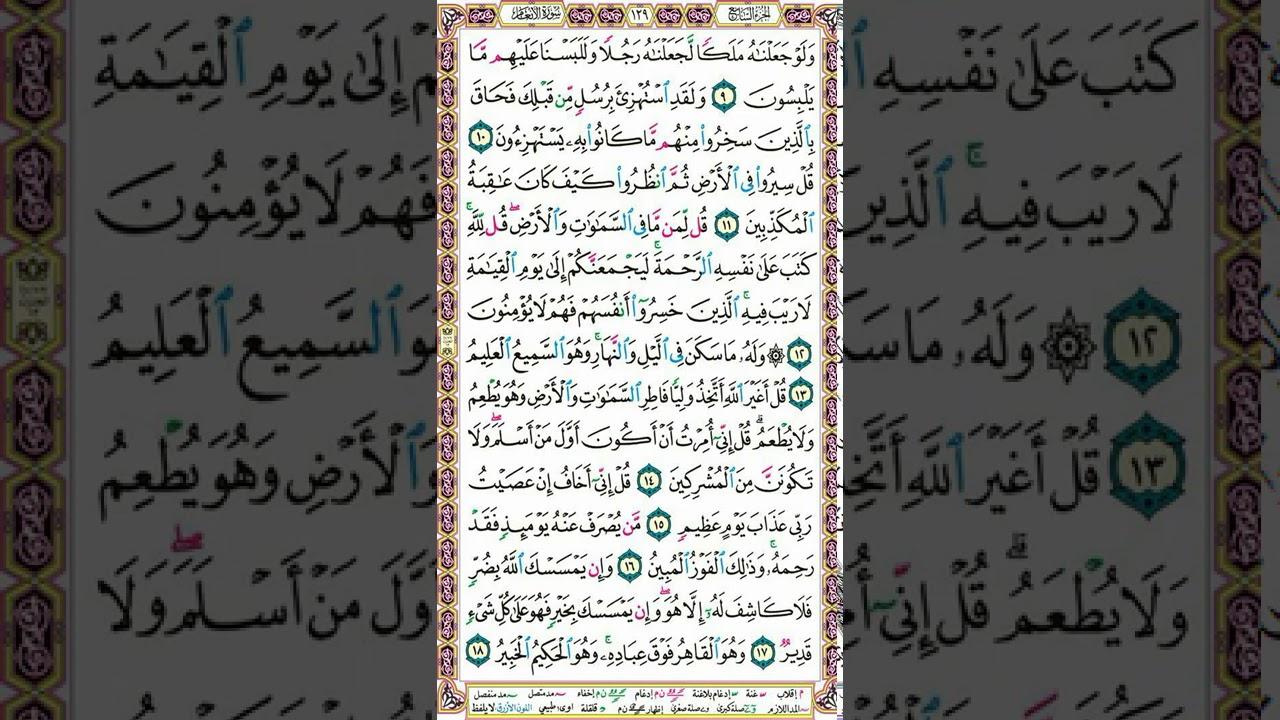 سورة الأنعام| تلاوة وفوائد الصفحة 129