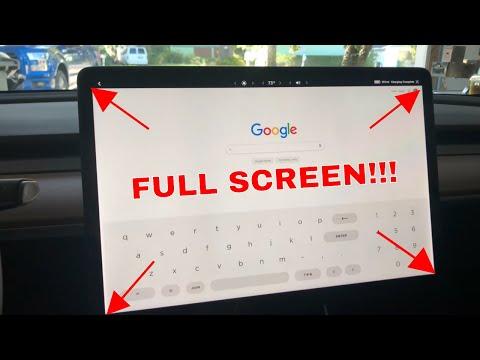 v10 Full Screen Web Browser work around!  Tesla Model 3 Version 10 software