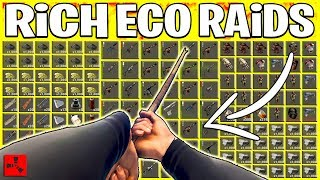Rust ECO RAIDING RICHES - Fast Start + RAIDING RICH BASES (Rust Eco Raids PvP)