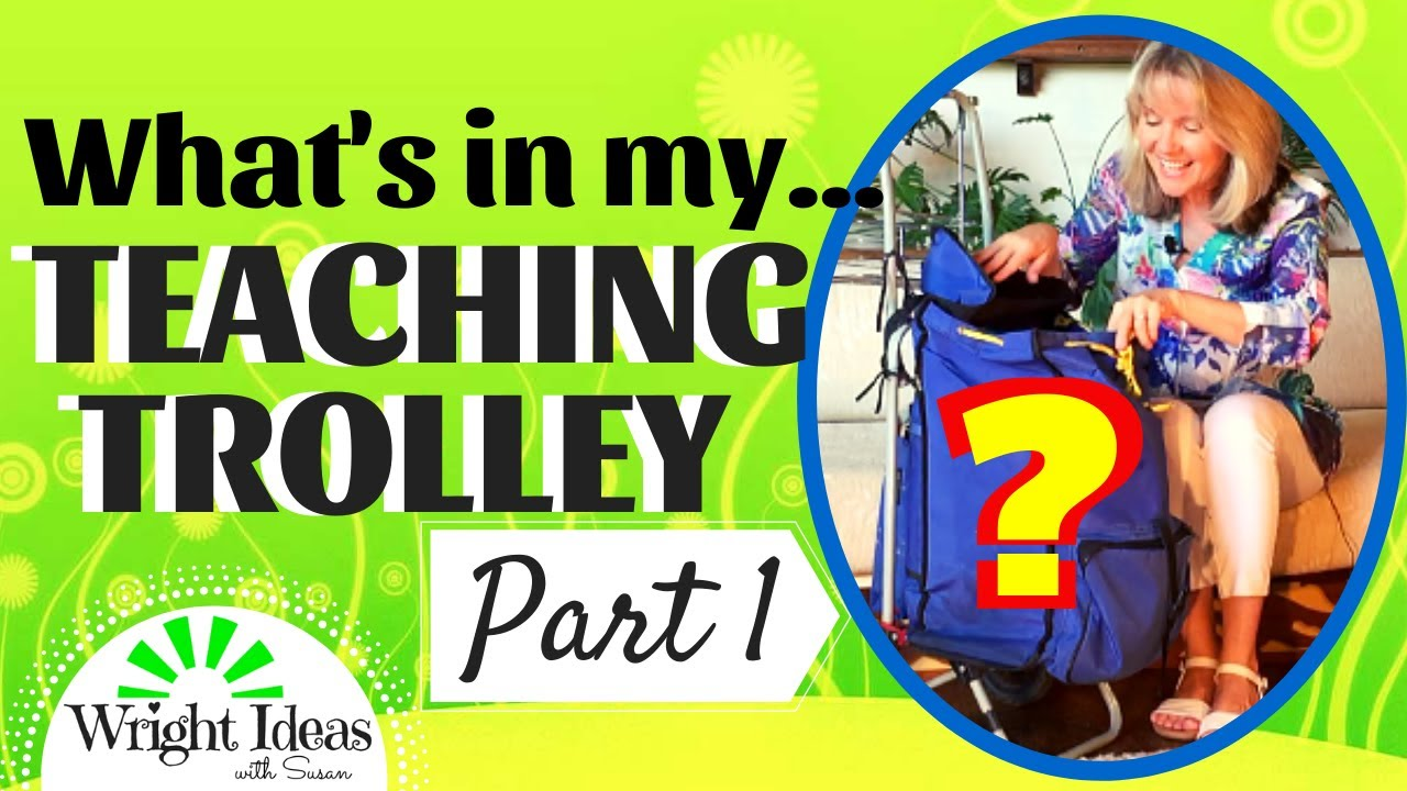 What's in My TEACHING TROLLEY BAG? (Part 1) Ideas for the Traveling Teacher