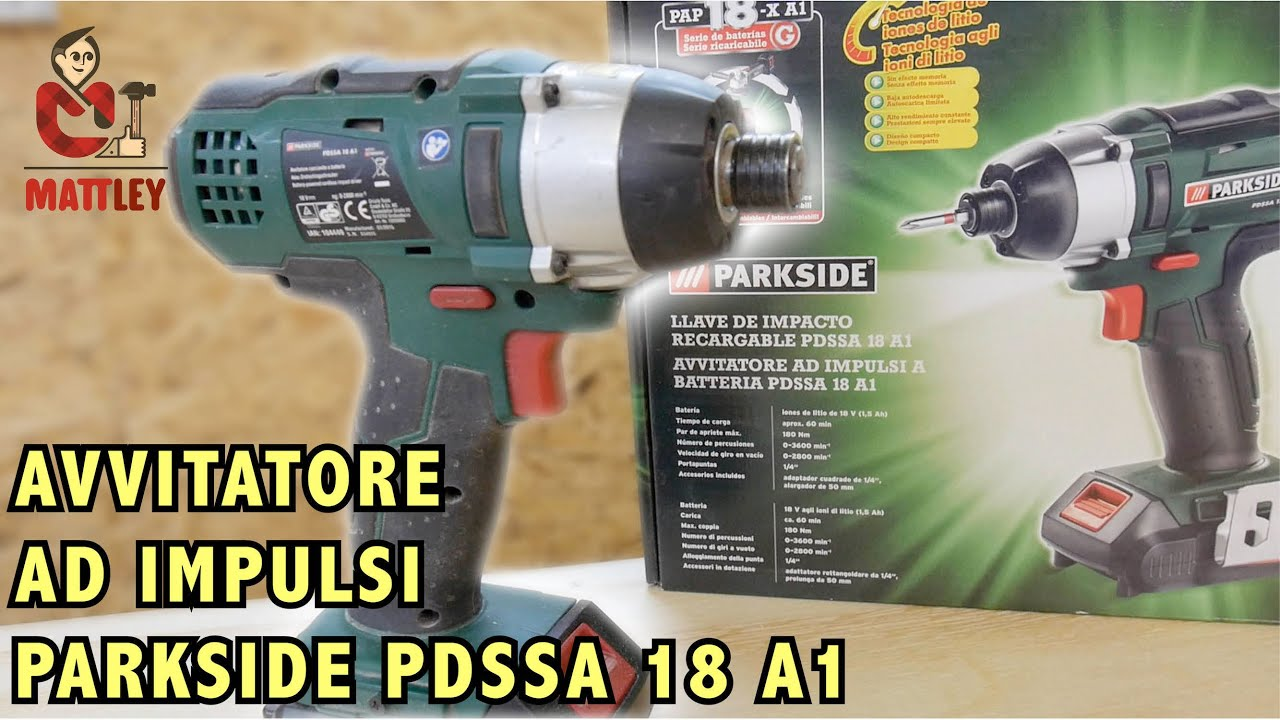 Recensione trapano avvitatore parkside pdssa 18 a1 youtube for Elettroutensili parkside