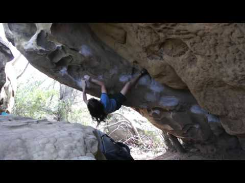 Santa Barbara Bouldering: Watch the Dog (V5)