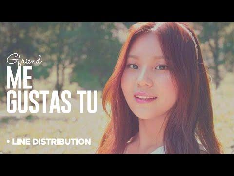 Gfriend - Me Gustas tu: Line Distribution (Color Coded Division)