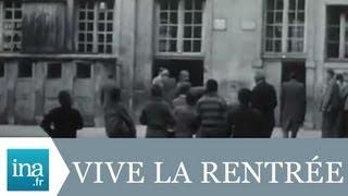 La rentrée des classes à Lyon au lycée AMPERE en 1955 - Archive vidéo INA