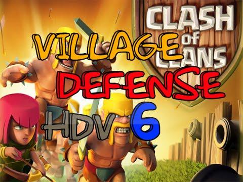 Clash of Clans | Village DEFENSE / GDC | HDV 6 !