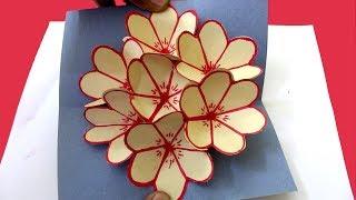 How To Make Popup Flower Card - DIY 3D Card | Love Card Making | DIY Paper Craft