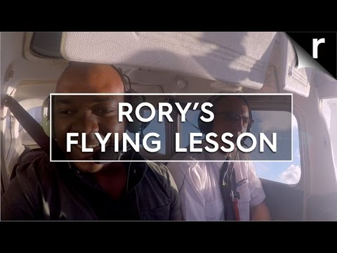 Rory Reid gets a flying lesson