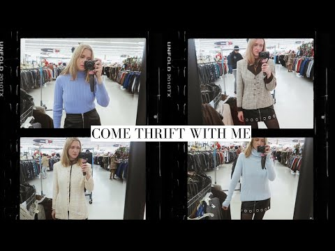 Come Thrift With Me For Winter Essentials | $100 Try-on Thrift Haul