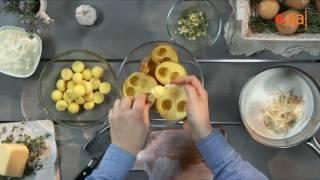 Картофельные шарики в сырном соусе