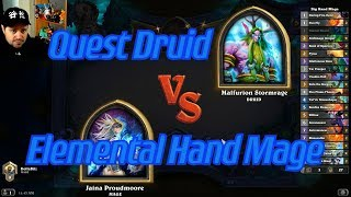 Elemental Hand Mage vs Quest Druid - Hearthstone