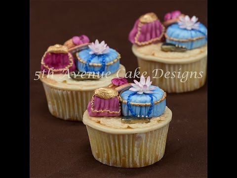 Victorian Fashion Inspired Fondant Cupcakes