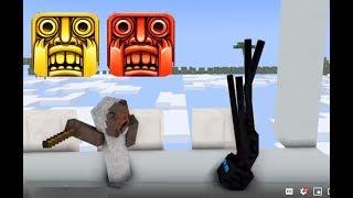 Monster School : GRANNY & CLOWN TEMPLE RUN CHALLENGE - Minecraft Animation