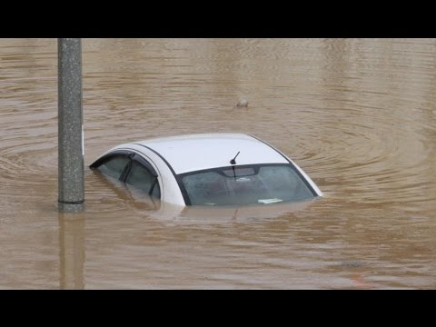 Cars submerge in Klang Valley floods