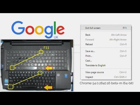 Chrome 54 Beta Right Click To Exit Full Screen I'm Happy