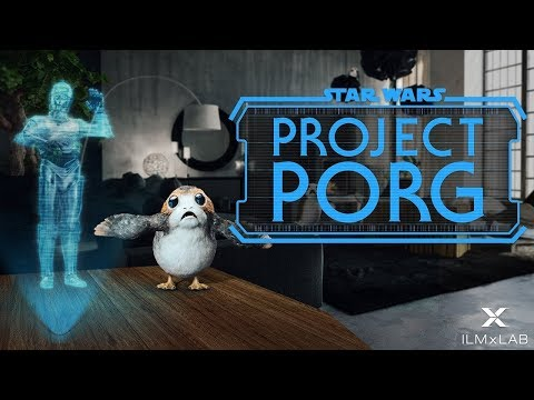 Project Porg Makes Your Dream of Raising Baby Porgs a Virtual Reality