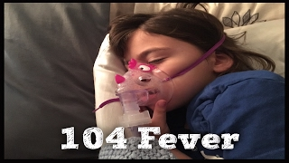 KID SICK WITH THE FLU | SHE's sick and CONTAGIOUS with HIGH FEVER | Stayed home SICK from School