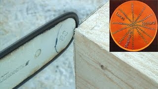 Extremely Accurate Chainsaw Demonstration  - An Aid to Building Timber Houses