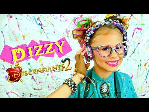 Descendants 2 Dizzy Makeup and Costume - YouTube