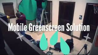 green screen - mobile setup