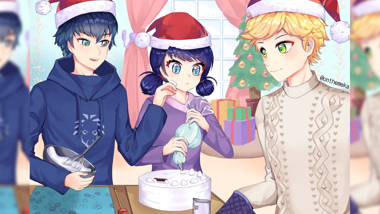 Three's a Crowd (Love Rivals, Christmas, Fluff) A Miraculous Ladybug Fanfiction/Podfic/Audiofic