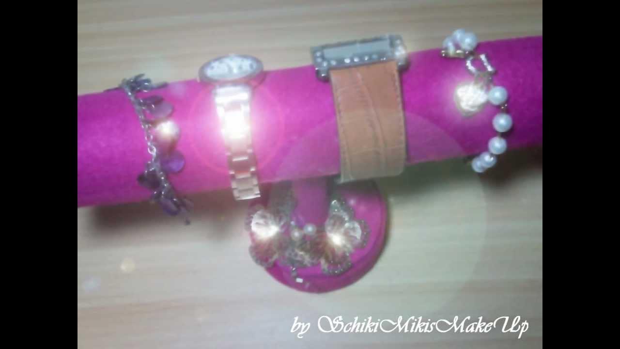 diy schmuckst nder armbandhalter selber machen bracelet holder schmuckaufbewahrung basteln. Black Bedroom Furniture Sets. Home Design Ideas