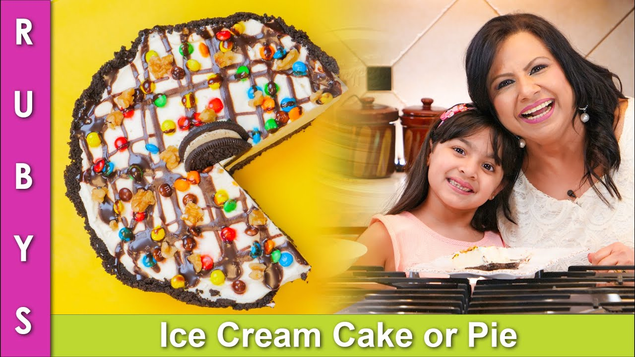 Kids will love this! Ice Cream Cake or Pie Recipe in Urdu Hindi - RKK