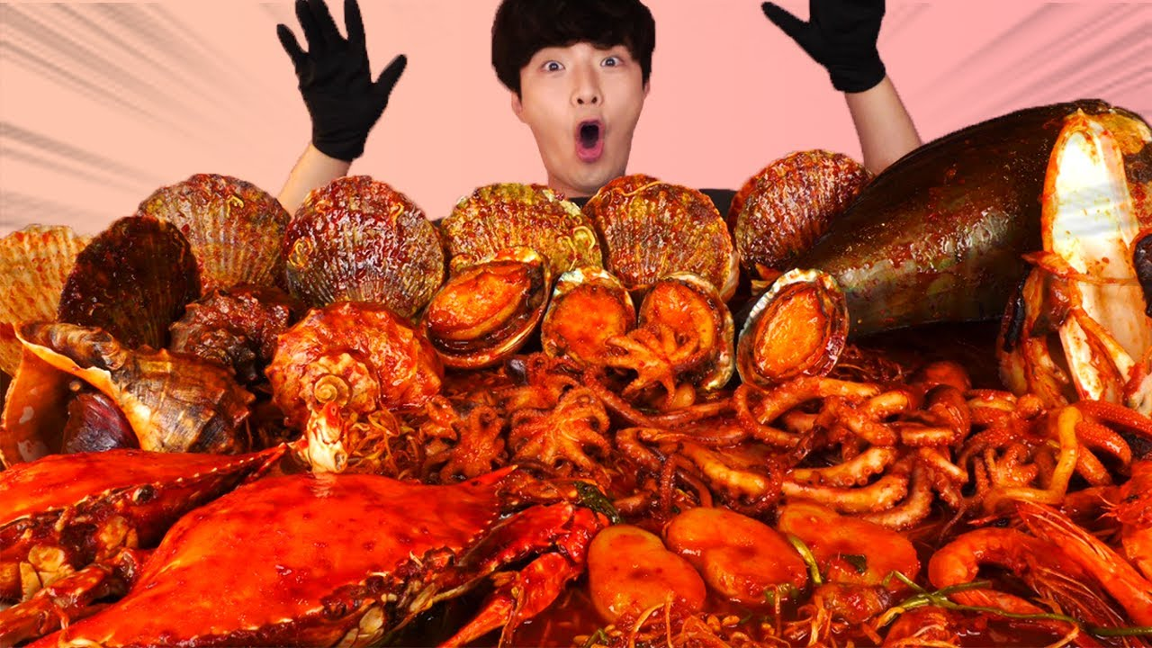 Download ENG SUB)Massive Spicy Seafood Boil Braised Eating Mukbang🔥Korean Seafood ASMR 후니 Hoony Eatingsound