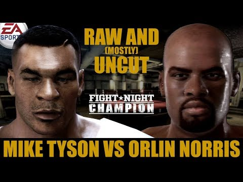 Mike Tyson vs Orlin Norris ★ Tyson Raw And [Mostly] Uncut ★ Full Fight Night Champion Simulation