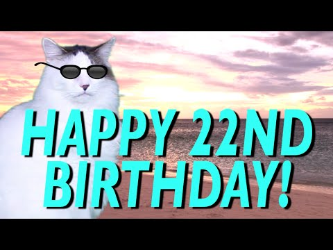 happy 22nd birthday epic cat happy birthday song youtube