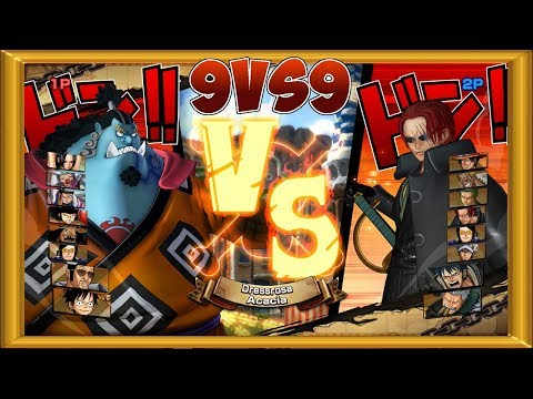 One Piece Burning Blood   2 Players Gameplay - 9 VS 9   ALL RANDOM #68