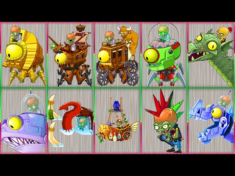 All Zomboss battles in Plants vs Zombies 2