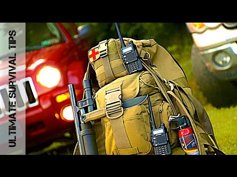 Shotgun + 37 Vehicle Bug Out Bag (Zombie Apocalypse) Survival Kit Gear - You Need in 2017