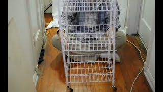 Dagda Home Small Rolling Three Tier Storage Cart Assembly Instruction Video