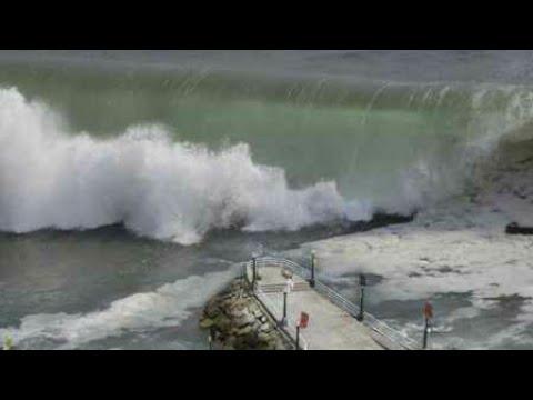 [Updated] Tsunami hits Greenland 2017 | Raw video