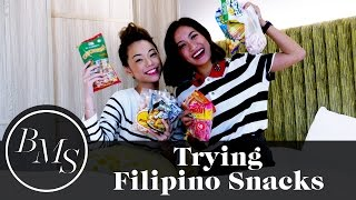 Trying Filipino Snacks with Drea Chong | Laureen Uy