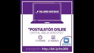 Postulatón Capital abeja SERCOTEC - hnt015